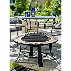 La Haciender Fire Pit Table And La Trieste Barbecue Table by WorldStores