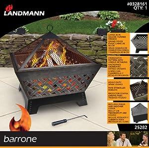 Landmann 25282 Barrone Fire Pit With Weatherproof Cover by Landmann Ltd