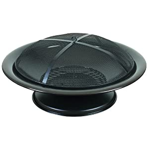 landmann fire pit outdoor garden heater charcoal mesh cover round from landmann