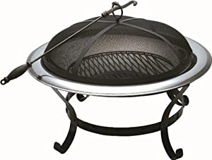 Large 30 Black Bentley Round Outdoor Charcoal Fire Pit from Bentley