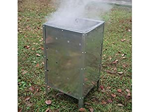 Large 90 Litre Square Galvanised Steel Garden Fire Incinerator Bin Ideal For Burning Rubbish Trash Leaves from E Bargains UK