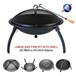 Large Black Fire Pit Stee...