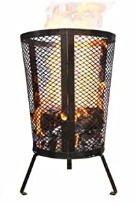 Large Environmentally Friendly Outdoor Steel Round Garden Incinerator - Ideal For Keeping Warm Burning Your Rubbish