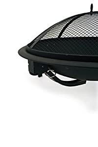 Large Fire Pit Bowl Grill Garden Heater Bbq Patio Foldable Legs Charcoal Poker Safety Mesh Outdoor Black  from FunkyBuys