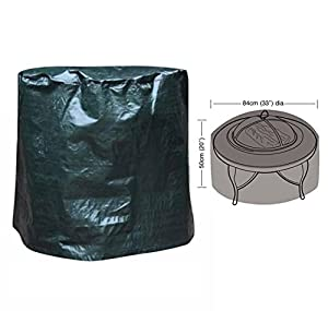 Large Fire Pit Cover Water Proof Resistant Chiminea Cover Garden Patio Outdoor Firepit Cover by Denny International®