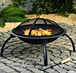 Large Fire Pit Steel Folding O...
