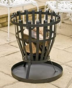 Large Patio Fire Pit Basket Garden Heating Chimenea by Cambs. Valley Ltd