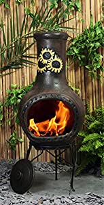 Large Rayo De Sol Clay Chimenea by primrose.co.uk