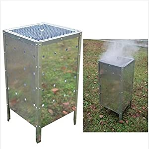 Large Square Garden Fire Bin Incinerator Galvanised 90l Yard Garden Landscaping Landscape Home House Patio Backyard Design Gadgets Stuff Birthday Gift Botany Plant Gardening Vegetable Container Flower Planning Front Maintenance Contemporary Layout Plantin