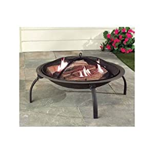 Large Steel Fire Pit Brazier Portable Patio Garden Bbq Grill by Safield