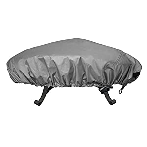 Leader International 100 Waterproof Heavy Duty Round Patio Fire Pit Cover Grey Up To 44 Inch from Leader International