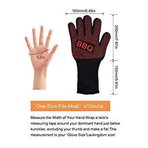 Leshp Bbq Gloves Grilling Cooking Glove 932f Extreme Heat Resistant Forearm Protection Long Cuff Silicone Grip Baking And Oven Mitts Fire Place Camping Gloves from LESHP