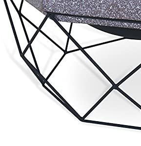 Livivo Diamond Stand Fire Pit Brazier With Mesh Spark Guard Bbq Grill Insert And Metal Fire Pokeriron - Weather And Rust-resistant Mgo Material Stone-effect Upper Ideal For Garden And Outdoor Living Areas Camping Bbq Picnic Holiday Festival Beach Heater f