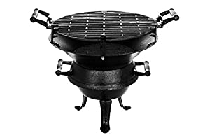 Livivo Round Cast Iron Outdoor Patio Bbq Barbecue Barbeque Fire Pit - Outdoor Fireplace Heater For Garden Camping Bbq Picnics Holiday Festivals Heater For Logs Charcoal by LIVIVO ®