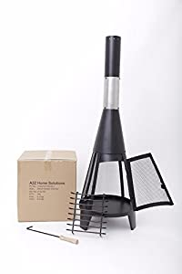 Look A2z Home Solutions Outdoor Chimenea Outdoor Garden Patio Heater Chimnea Wood Burner Steel Chiminea Modern 120cm from A2Z HOME SOLUTIONS