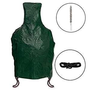 Lulwood - Heavy Duty Green Chimineachimenea Cover For Outdoor Protection Complete With Wire Cleaning Brush by Lulwood
