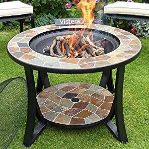 Madeira Slate Mosaic Fire Pit Table from VISTERA