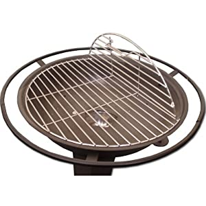 Majestic Flame 22 Garden Fire Pit Grill With Safety Guard from Majestic