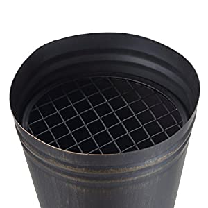 Mari Garden Aragon Bronze Cast Iron Chiminea Included Bbq Grill Rain Cover Poker All-in-one Chimney Patio Heater Rooftop Fire Pit Garden Incinerator Perfect For Backyard Gatherings from Mari Garden