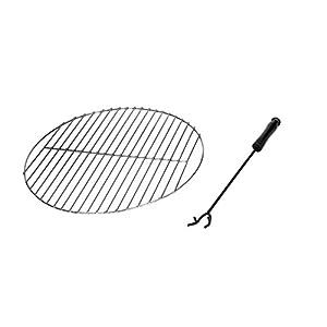 Mari Garden - Olvera 76cm Garden Fire Pit Bowl With Chrome Bbq Grill Mesh Lid And Rain Cover Incinerator Log Wood Burner Patio Heater Chimnea Chimenea Outdoor by Mari Garden