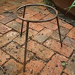 Medium Iron Standgarden Fire Pit Trivetwood Burner Accessorybrazier Legs by Round Wood Trading