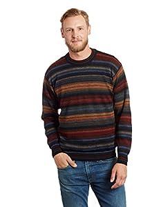Mens 100 Alpaca Crew Neck Pullover Sweater Chiminea