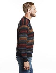 Mens 100 Genuine Alpaca Crew Neck Chiminea Pullover Sweater - X-large