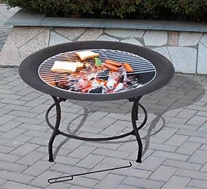 Messina Firepit - Large Fire Bowl Garden Heater Bbq Fire Pit