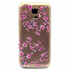 Mutouren Samsung Galaxy S5 Mini Case Cover Protective Case Tpu Silicone Case Transparent Ultra Thin Gel Anti-scratch Rear Case Pouch Bumper Clear-plum Blossom by MUTOUREN
