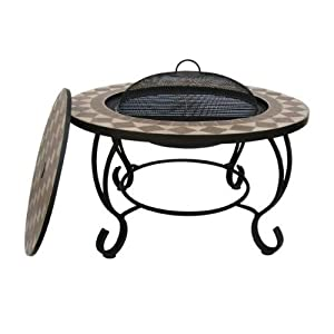 Napoli Mosaic Firepit Bbq Table from BBQ Land