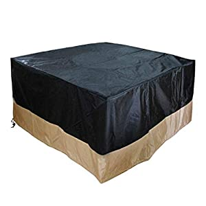 Onlyfire 106cm Full Coverage Square Fire Pit Covertable - Cover Durable And Water Resistant42 L X 42 W X 22 H from only fire