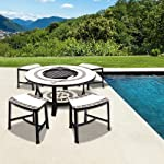 Orion Tile Top Table With Fire Pit ...