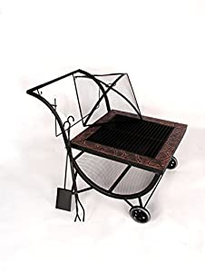 Outdoor Fire Pit Bbq Grill Portable Fireplace Garden Patio Heater Charkoal Wood Barbecue Fire Guard Wheels Ccessories Bowl Phoenix from Riana