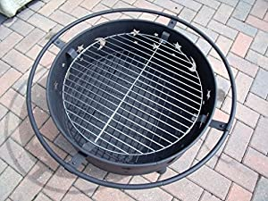 Outdoor Garden Fire Pit Bbq Patio Heater Decking Firepit Brazier Metal Moon And Stars D by Ambience-Outdoors