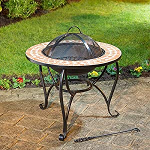 Outdoor Mosaic Firepit Decorative Garden Feature from MLT