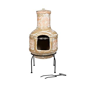Oxford Barbecues Berkeley Clay Chiminea With Bbq Grill from La Hacienda Ltd
