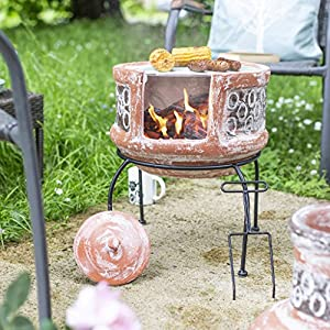 Oxford Barbecues Maisemore Clay Chiminea With Bbq Grill from La Hacienda Ltd