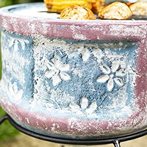 Oxford Barbecues Pershore Clay Chiminea With Bbq Grill from La Hacienda Ltd