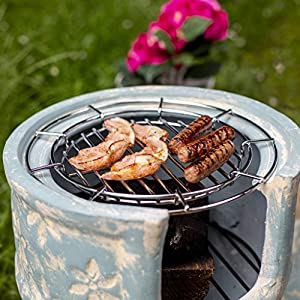 Oxford Barbecues St Chloe Clay Chiminea With Bbq Grill And Pizza Stone by La Hacienda Ltd