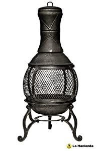 Oxford Leisure Fuego Black Mesh Cast Iron Chiminea Chimenea 90 Cm High