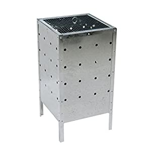 Oypla 90l Square Garden Galvanised Incinerator Fire Bin Rubbish Pit by Oypla