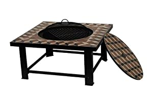 Palermo Mosaic Firepit Bbq Table
