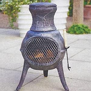 Palma Cast Iron Chimenea In Bronze by Cambs Valley Ltd.