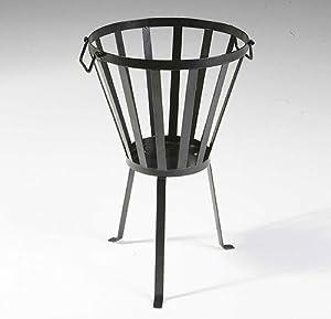 Patio Fire Bowl Pit Firepit Steel Basket Brazier Outdoor Heater Garden Log Burner by Roukenglen