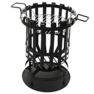 Patio Fire Pit Firepit Brazier Outdoor Heater With Bbq Barbeque Barbecue Grill by HAMBLE DISTRIBUTION