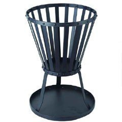 Patio Fire Pit Firepit Steel Basket Brazier Outdoor Heater Garden - Black from HAMBLE DISTRIBUTION