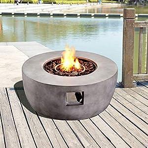 Peaktop Hf36501aa-eu Gas Fire Pit Grey by Peaktop