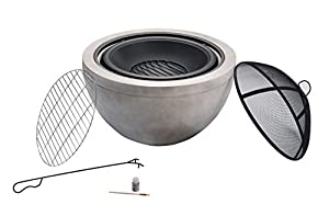 Peaktop Outdoor Round Wood Burning Fire Pit With Charcoal Grill Bbq Grill And Spark Screen With Poker from Peaktop