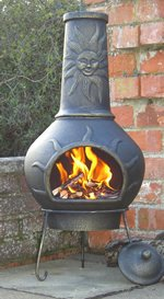 Phoenix Cast Iron Sunface Chiminea by Castmaster