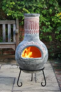 Plumas Green Large Clay Chimenea from Gardeco